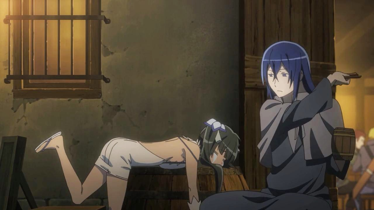 Anime Feet: Is It Wrong to Try to Pick Up Girls in a Dungeon? Hestia, Episode 3.